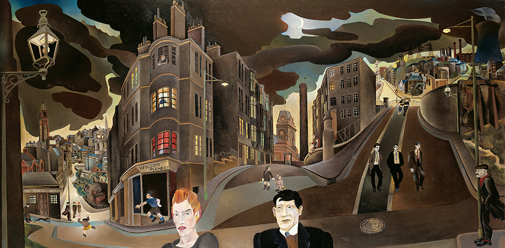 Cowcaddens in the Fifties, by Alasdair Gray, 1964